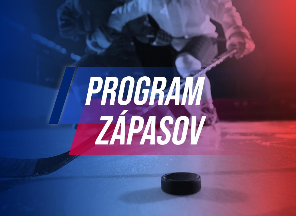 Program zápasov v týždni od 25. 10. do 31. 10. 2021